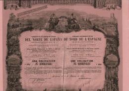 ESPAGNE-CHEMINS DE FER DU NORD DE L'ESPAGNE. 1870. Oblig 500 F - Other