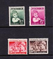 Yugoslavia SG 370-373 1938 Child Welfare,mint Hinged - 1931-1941 Kingdom Of Yugoslavia