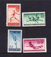 Yugoslavia SG 382-385 1938 9th Balkan Games,mint Hinged - 1931-1941 Kingdom Of Yugoslavia