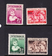 Yugoslavia SG 387-390 1938 Child Welfare Mint Hinged - 1931-1941 Kingdom Of Yugoslavia