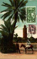 MAROC MARRAKECH LA KOUTOUBIA A TRAVERS LES PALMIERS - Marrakech