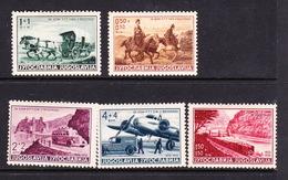 Yugoslavia SG 391-395 1939 Postal CentenaryBenevolent Fund,mint Hinged - 1931-1941 Kingdom Of Yugoslavia