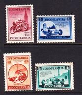 Yugoslavia SG 402-405 1939 International Motor Show,mint Hinged - 1931-1941 Kingdom Of Yugoslavia