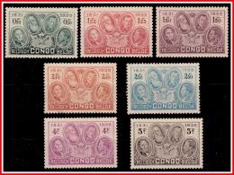 Congo 0185/91*  Cinquantenaire De L'Etat Indépendant Du Congo - H - - 1923-44: Neufs