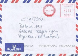 """Niger 2003 Niamey Meter Neopost """"Electronic"""" BUR 006 Franking EMA Cover. Unique Only One Known! - Niger (1960-...)"""