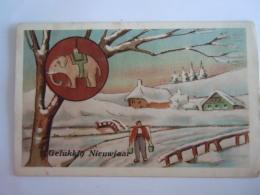 Gelukkig Nieuwjaar Boer In De Sneeuw Olifant Fermier Dans La Neige  éléphant Circulée Gelopen Edit P. J. Jette - New Year
