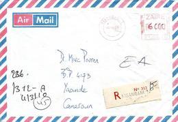 RDC DRC Congo 2010 Kisangani Meter FRAMA Zaire EMA Registered Cover Via Dakar Cameroun - Democratische Republiek Congo (1997 - ...)