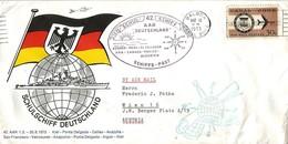 Panama Canal Zone 1973 Balboa Maritime Ship Mail Aar Deutschland Cover - Panama