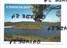 CPM - LE LAC DES OLIVETTES à VAILHAN (34) Le Barrage - France
