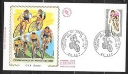 FDC  Lettre Illustrée Premier Jour Gap 22/07/1972  N° 1724 Championnat Du Monde Cyclisme TB Soldé à  Moins De 20% ! ! ! - Ciclismo