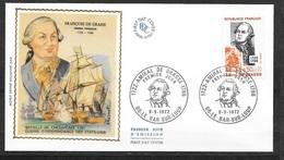 FDC  Lettre Illustrée Premier Jour Bar Sur Loup Le  09/09/1972 Le N° 1727 Amiral De Grasse    TB Soldé à  Moins De 20% - 1970-1979