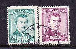 Yugoslavia SG 538-539 1946 Birth Centenary Of Markovic,used Set - Used Stamps