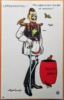 """CPA Illustrateur MASS'BEUF 1914-18  """"L'EPOUVANTAIL! Mes Aigles Se Sont Changés En Moineaux!"""" Imp. Guiraud Marseille N°10 - Oorlog 1914-18"""