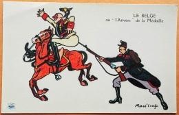 """CPA Illustrateur MASS'BEUF 1914-18  """"LE BELGE Ou L'Anvers De La Médaille """" Imp. Guiraud Marseille N° - Oorlog 1914-18"""