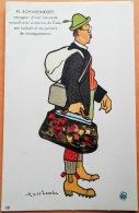 "CPA Illustrateur MASS'BEUF 1914-18  ""M. SCHWEINKOPF Voyageur D'une Kolossale Manufactür... "" Imp. Guiraud Marseille N°12 - Oorlog 1914-18"