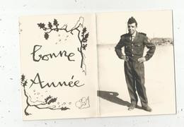 Carte De Voeux 4 Pages , Militaria ,militaire , BONNE ANNEE - Personen