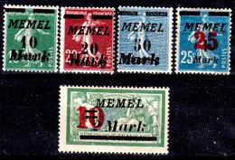 Memel-017 - Emissione 1922 (+) LH - Serie Completa - Senza Difetti Occulti.) - Unused Stamps