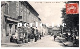 69  Grigny  Café Gervais  , Montée De La Place - Grigny