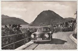 LUGANO MONTE S. SALVATORE AUTO CAR VOITURE PORSCHE 356 - CARTOLINA SPEDITA NEL 1953 - TI Ticino