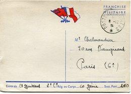 FRANCE CARTE POSTALE DE FRANCHISE MILITAIRE DEPART POSTE AUX ARMEES 8-12-39 - Marcophilie (Lettres)
