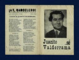 JUANITO VALDERRAMA (Pliego De Cordel Con Foto) - Programas
