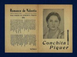 CONCHITA PIQUER (Pliego De Cordel Con Foto) - Programas