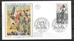 FDC  Lettre Illustrée Premier Jour Paris Le 11/11/1972 Le N° 1730 Bonaparte Au Pont D'Arcole    TB Soldé à  Moins De 20% - Napoléon