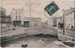 CPA 66 Saint ESTEVE Pont Route Nationale Diligence Fau - Francia
