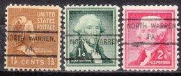 USA Precancel Vorausentwertung Preo, Locals Pennsylvania, North Waren 807, 3 Diff. - Vereinigte Staaten