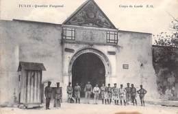 Afrique Tunisie TUNIS Quartier Forgemol Corps De Garde  (4ème Chasseurs D'Afrique Mlilitaria)(Editions:E-O) PRIX FIXE - Tunisie