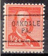USA Precancel Vorausentwertung Preo, Locals Pennsylvania, Oakdale 703 - Vereinigte Staaten