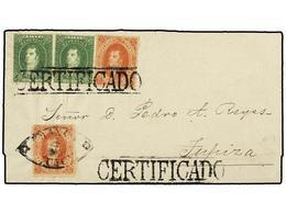 6 ARGENTINA. Sc.11 (2), 12 (2). 1864 (12 Noviembre). JUJUY A TUPIZA. <B>5 Ctvos.</B> Rojo (2) Y <B>10 Ctvos.</B> Verde ( - Stamps