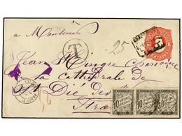 10 ARGENTINA. 1890. BUENOS AIRES A FRANCIA. Sobre Entero Postal De <B>8 Ctvos.</B> Rojo (falta Una Solapa Del Dorso) Tas - Stamps