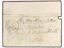 279 FRANCIA. 1870. TROUVILLE A PARÍS. <B>BOULE DE MOULINS.</B> Envuelta, Franqueo Desaparecido Durante La Inmersión, Man - Stamps