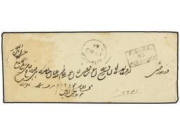 656A IRAN. 1866. BUSHIER To BOMBAY. Envelope Sent Unfranked With Postage Paid Box <B>BUSHIRE/P.O./ZANNA</B> And <B>BUSHI - Stamps