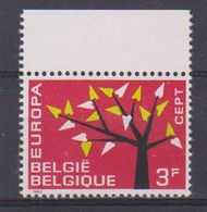 """Europa Cept 1962 Belgium 3F VARIETY Red Point In """"F"""" ** Mnh (38695) - 1962"""