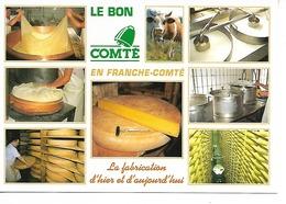 LE BON COMTE En Franche-Comté : Fabrication D'hier Et D'aujourd' Hui / CPM Cellard Multivues - 8 - Vierge / NEUVE - Recettes (cuisine)