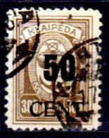Memel-030 - Emissione 1923 (o) Used - Senza Difetti Occulti.) - Memel (1920-1924)