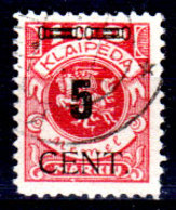 Memel-034 - Emissione 1923 (o) Used - Senza Difetti Occulti. - Memel (1920-1924)