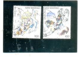 1982 SAN MARINO Y & T N° 1055 Et 1056 ( O ) Europa - Usados