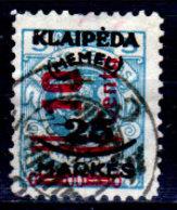 Memel-035 - Emissione 1923 (o) Used - Senza Difetti Occulti. - Memel (1920-1924)