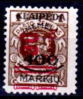 Memel-036 - Emissione 1923 (o) Used - Senza Difetti Occulti. - Memel (1920-1924)