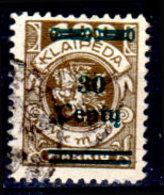 Memel-038 - Emissione 1923 (o) Used - Senza Difetti Occulti. - Memel (1920-1924)