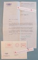 Lettre 1982 Monique BERLIOUX - CIO Comité International Olympique - Lausanne Pierre De Coubertin Nageuse Autographe Metz - Handtekening