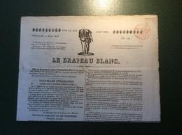 """France 1823 Journal """"LE DRAPEAU BLANC"""" Armée Francaise Espagne (fiscal Fiscaux Lettre Cover Guerre War Spain Militaire - Storia Postale"""