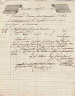 Facture 14/2/1835 CHANOUSSE Matériel Pour Imprimerie MARSEILLE Pour Dornan Carpentras - Voir Verso - 1800 – 1899