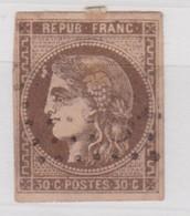 FRANCE  YT N° 47    2ème CHOIX - 1870 Emisión De Bordeaux