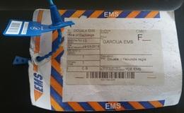 Cameroun Cameroon 2018 Douala Paquebot France Garoua EMS Postal Mail Bag Label - Kameroen (1960-...)