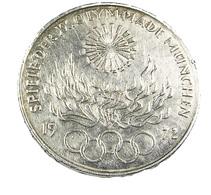 10 Mark - Jeux Olympics - Allemagne -  Argent - 1972 - TTB - - [10] Commémoratives