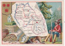 Chromo - Le Fil Géographique - Département De L'Isère - Chromos